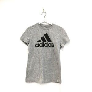 Adidas Grey/Black Go-To Tee T-shirt Sz L